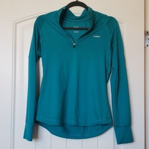 Reebok Moisture Wicking Long Sleeve Quarter Zip